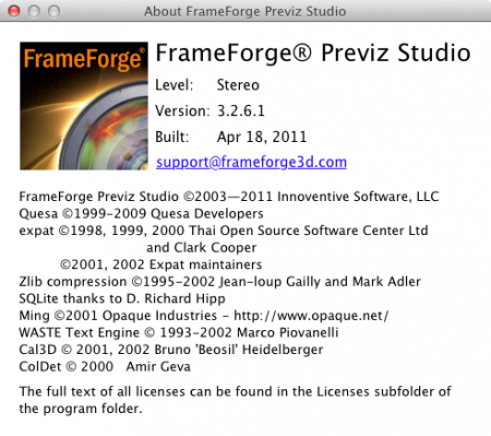 FrameForge Previs Studio 3 Stereographic 3D Edition - 3 [UB/KG] Mac