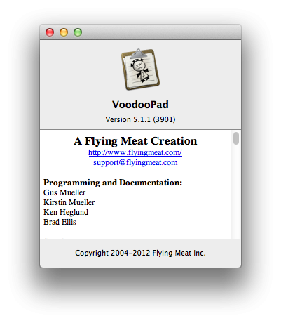 VoodooPad 5.1.1