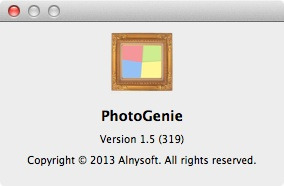 PhotoGenie 1.5 about
