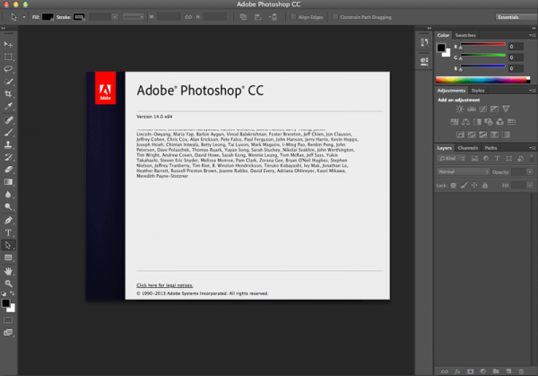 Adobe Photoshop CC 14.0 for Mac