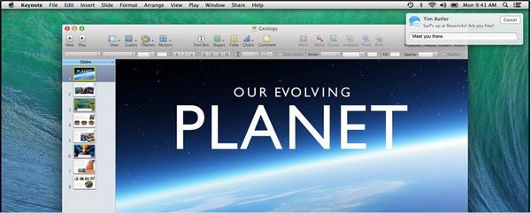 Уведомления. OS X 10.9 Mavericks