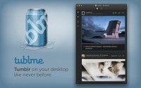 Tublme 1.2 - клиент для работы в сервисе микроблогов Tumblr