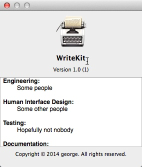 WriteKit 1.0 - текстовый редактор для Mac