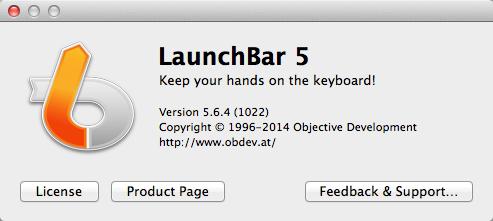 LaunchBar 5.6.4