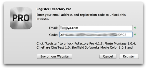 fxfactory pro serial number mac