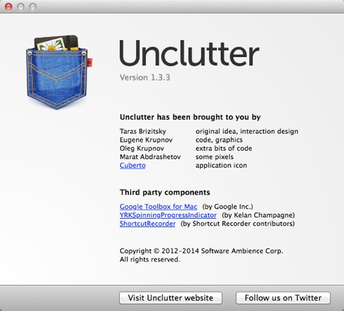 Unclutter 1.3.3