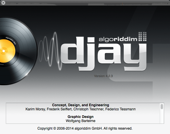 Algoriddim djay for Mac 4.2.3