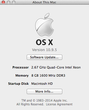 Hackintosh 10.9.5 Mavericks