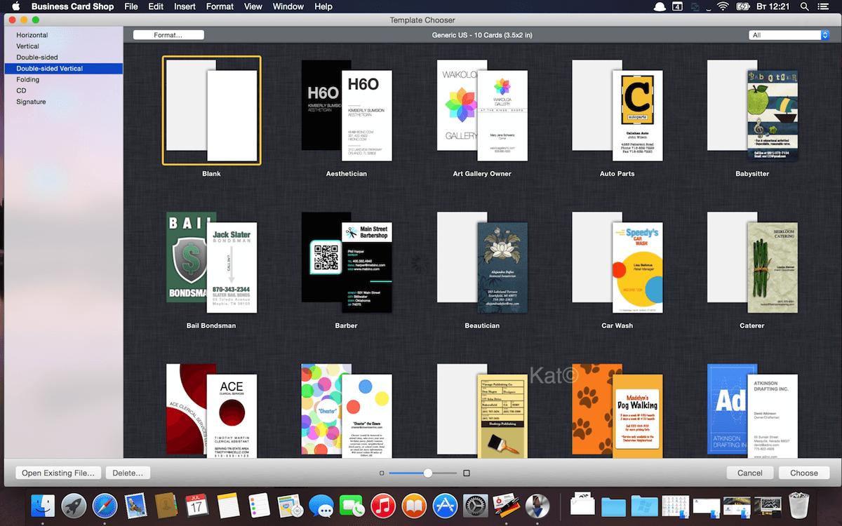 Скачать mac программе для визиток