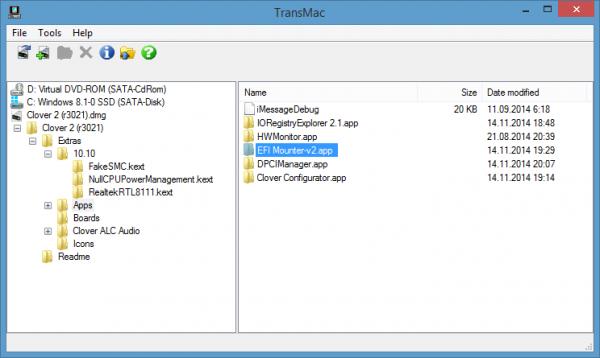 TransMac 11.0 - создавать и записывать dmg-образы в Windows