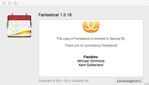 Fantastical for Mac 1.3.18