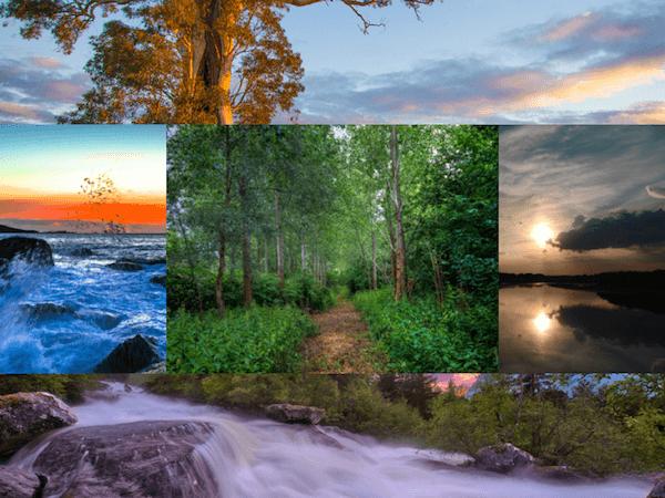 200 красивых пейзажных обоев HD (набор 24)