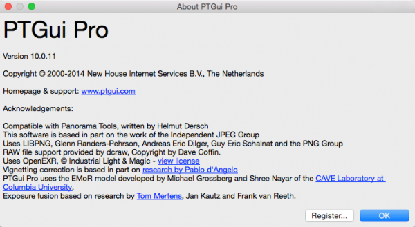 PTGui Pro 10.0.11 - создания панорамных изображений
