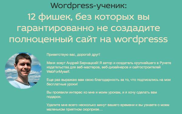 Бернацкий Андрей. WordPress-Ученик (2015)