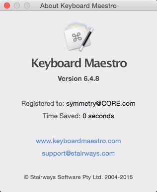 Keyboard Maestro 6.4.8