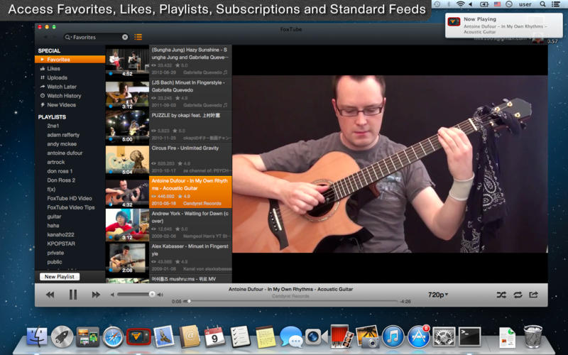 YouTube as a media player
