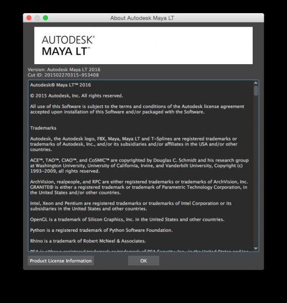 Autodesk Maya LT 2016 for Mac