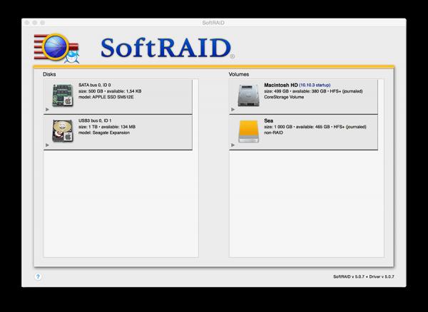 SoftRAID 5.0.7