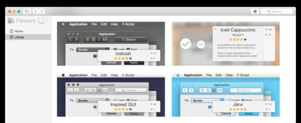 Flavours 2 Lite - меняет цветовую схему OS X