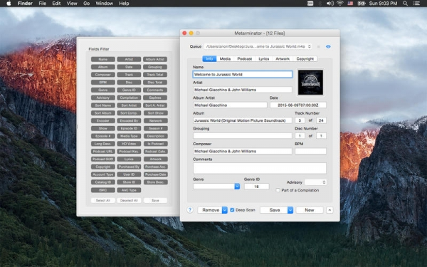 Metarminator 1.2.1 - Редактор iTunes метаданных