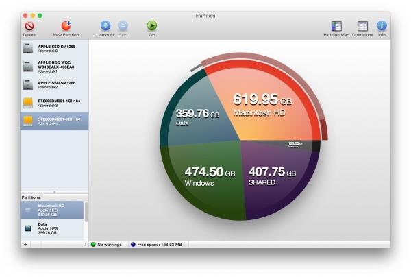 iPartition 3.4.5 - управления разделами дисков