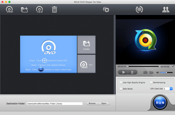 WinX DVD Ripper for Mac 4.6.5