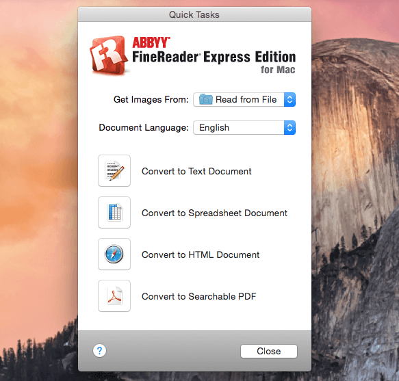 ABBYY FineReader Express 8.5.676060 для Mac