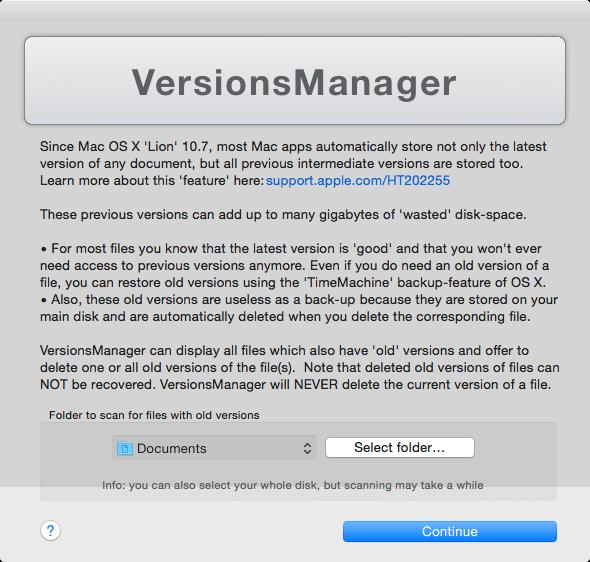 VersionsManager 1.1.0