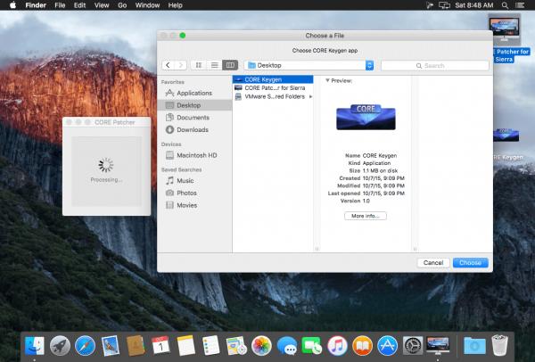 CORE KG – K Patcher исправление для macOS Sierra 1.0